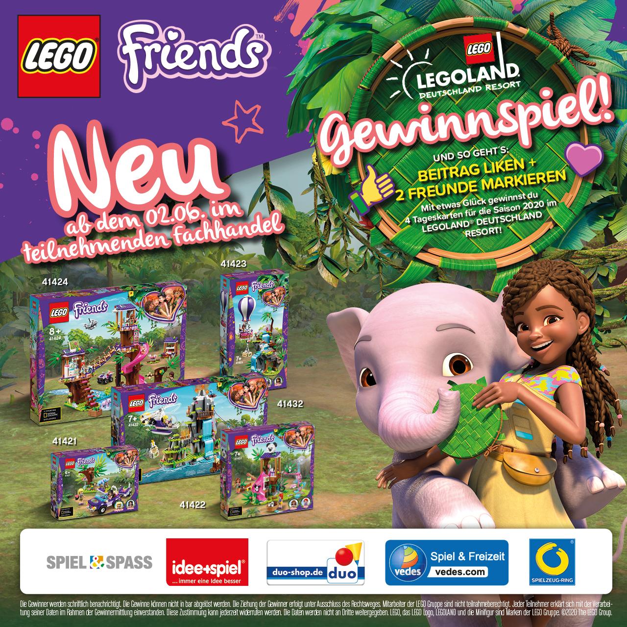 # Neuheiten Lego Friends Dschungel & Gewinnspiel